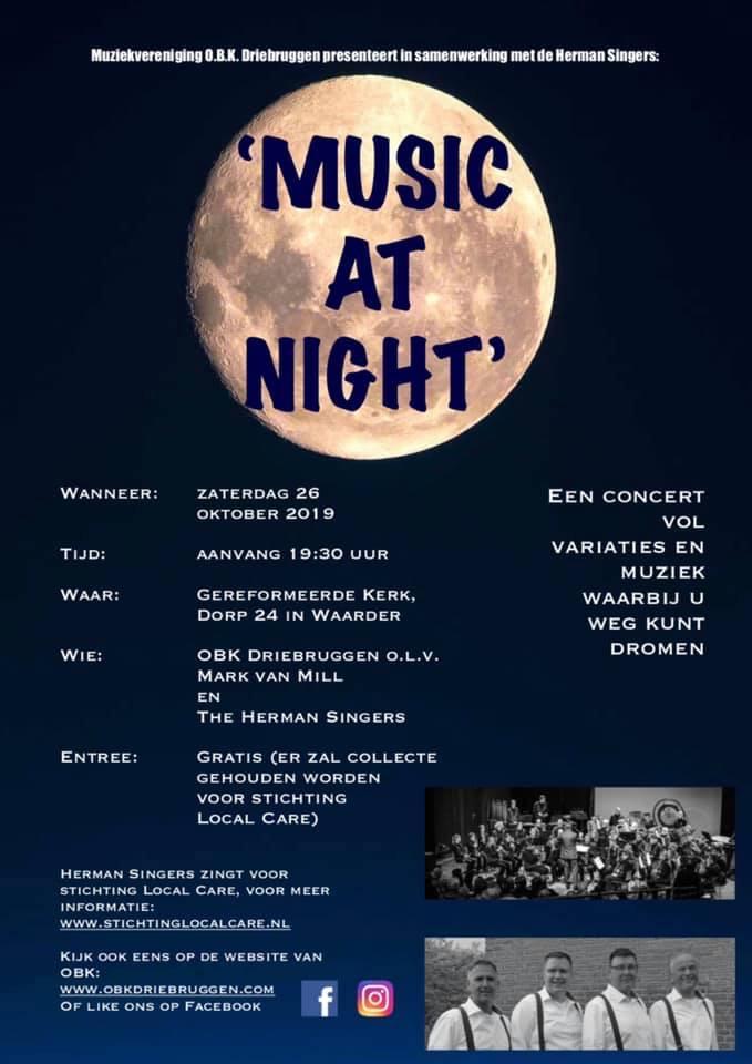 Poster Najaarsconcert 26 oktober 2019